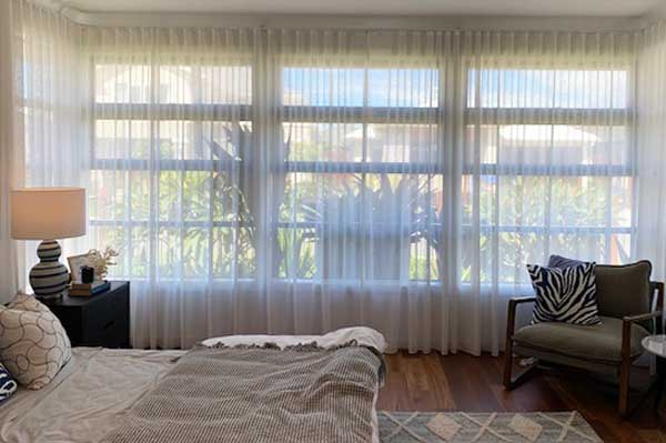 romantic sheer curtains in white silk fabric