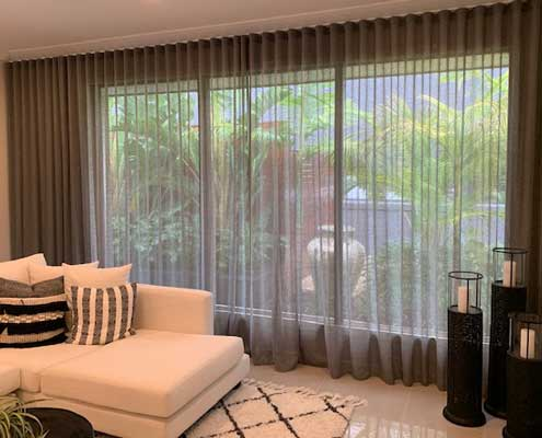 Sheer curtains easy to see through while maintaining your privacy
