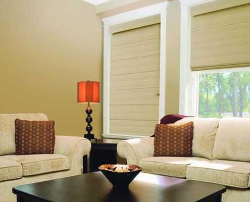 roman blinds cream fabric
