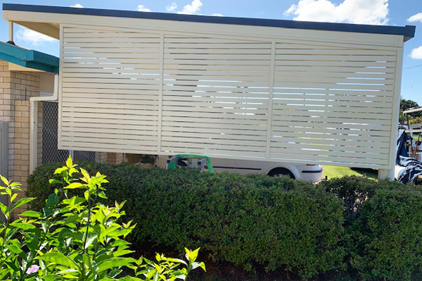 Privacy Screen used to enclose carport