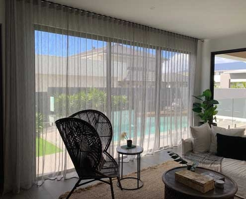 Sheer curtains allow privacy and a view
