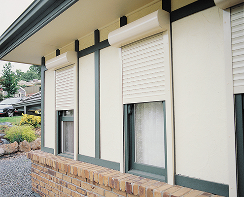Roller shutters on windows