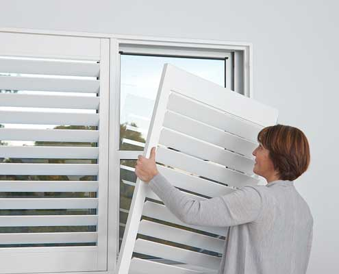 Shutters are easy to clean