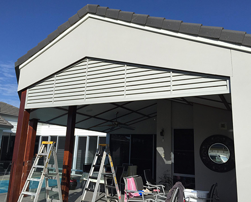 Overhead privacy screen provides shading to your outdoor areas