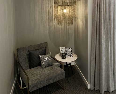Showcasing the use of curtains and fabrics