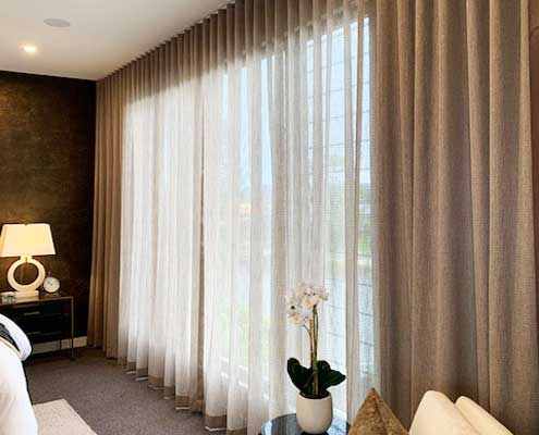 Sheer curtains perfect for privacy in the bedroom without losing the view
