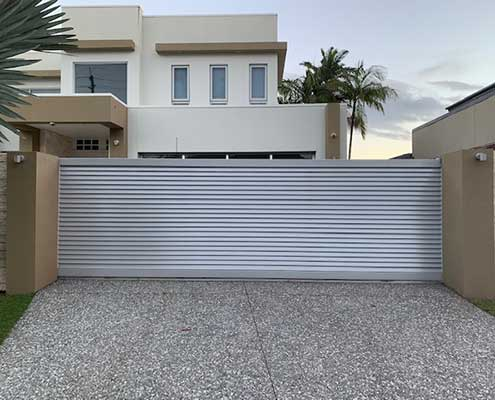 hometec gate aluminium stainless steel finish
