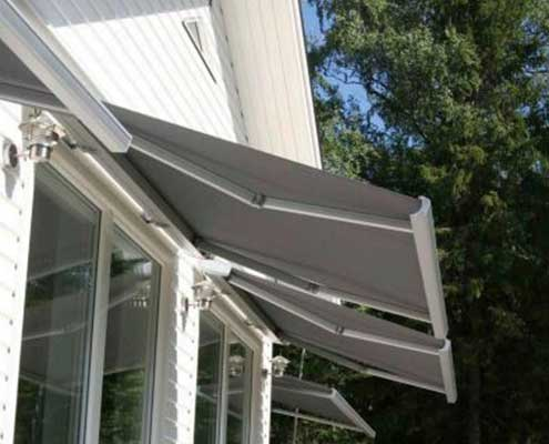 open awning folding arm swedish design